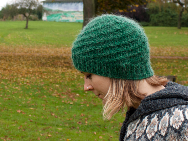 Knitting Patterns For Hats Using Circular Needles : New Pattern Release - the Corkscrew Beanie for Grown Ups!