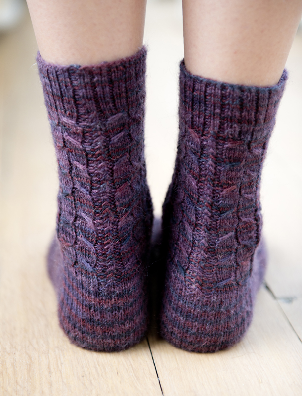 Knitting Patterns For Men s Socks On 4 Needles : Cute Cabled Socks Pattern - Buttons and Beeswax