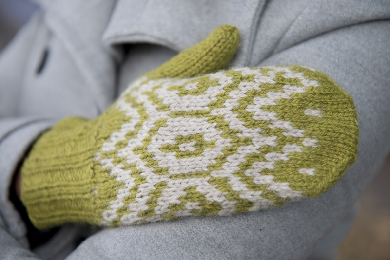 Fair Isle Mittens pattern in Simply Knitting 115